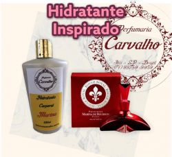 Hidratante com a fragrância do concorrente importado MARINA DE BOURBON - ROUGE ROYAL